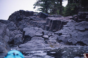 Kayaking In Columnar Basalt