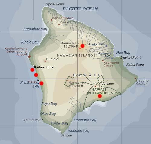 City Of Refuge Big Island Hawaii Map