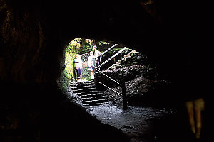 Exiting the Thurston Lava Tube