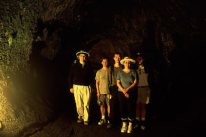 Us in Thurston Lava Tube