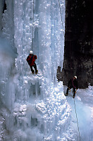 Ice Climbing at Upper Johnson Falls