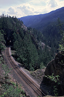 Track Tunnel with Mountains
