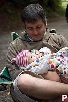 Jeremy Holding Baby