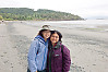 Jin And Helen On Beach