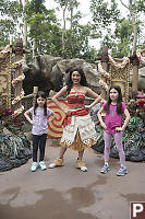 Nara And Claira With Moana
