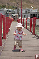 Nara On Bridge In Tai O