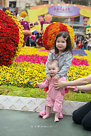 Nara And Claira At Flower Show