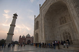 Waiting To Get Inside Taj Mahal