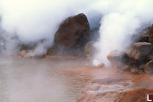 Boiling Red Spring at Umi Jigoku