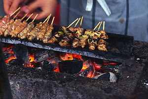 Yakitori Cooking