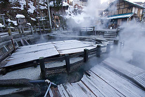 Covered Hot Spring Water