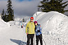 Helen And I Skiing