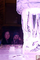Nara And Helen With Ice Sculpture
