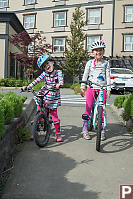 Girls With Their Bikes