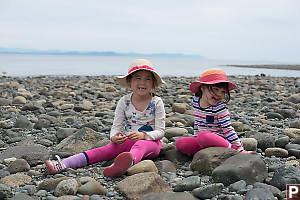 Playing On Rocky Beach