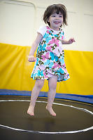 Claira On Bouncing On Trampoline