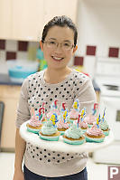 Helen With Cupcakes