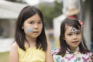 Claira And Nara With Face Paint