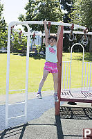 Nara Trying Monkey Bars