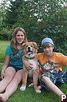Kayla And Justin And Dog