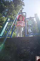 Nara At The Top Of The Climbing Wall