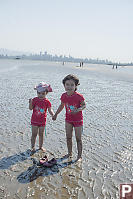 Kids On The Sand Banks