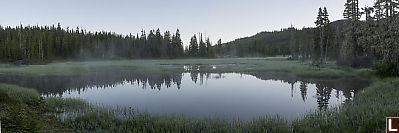 Fog On Early Morning Lake