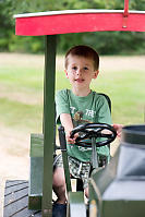 Marcus Driving The Tractor