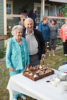 Grandparents With Giant Cake