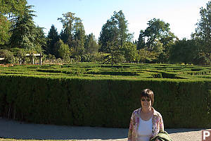 Mom In Front Of Maze