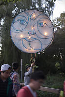 Moon Lantern At The Start Of The Parade