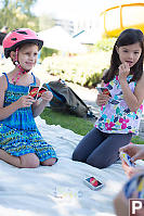 Noelle And Haley Playing Uno