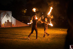 Fire Staff Fighting