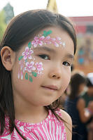 Nara With Flowers Face Paint