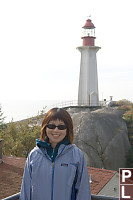Helen In Front Of Lighthouse
