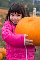 Claira With Big Pumpkin
