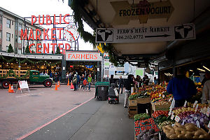 Produce Market Outside Pike Place Market