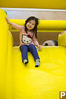 Nara At Top Of Bouncy Castle