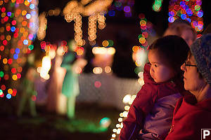 Nara And Grandma Looking At Lights