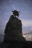 Siwash Rock Star Trails Missing Clouds