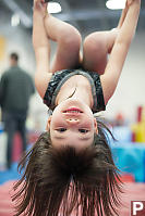 Claira Hanging Upside Down