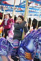 Nara Riding Purple Horse