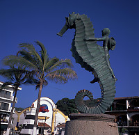 Sea Horse in Front of Planet Hollywood