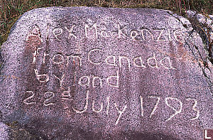 Alex MacKenzie From Canada by Land 22d July 1793