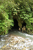 River Going Into Cave