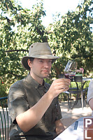 Mark Looking Through Wine