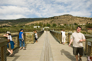 Standing On Trestle Bridge