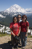Girls In Front Of Rainier