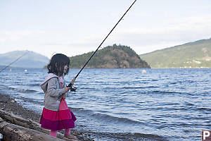 Claira With Fishing Rod