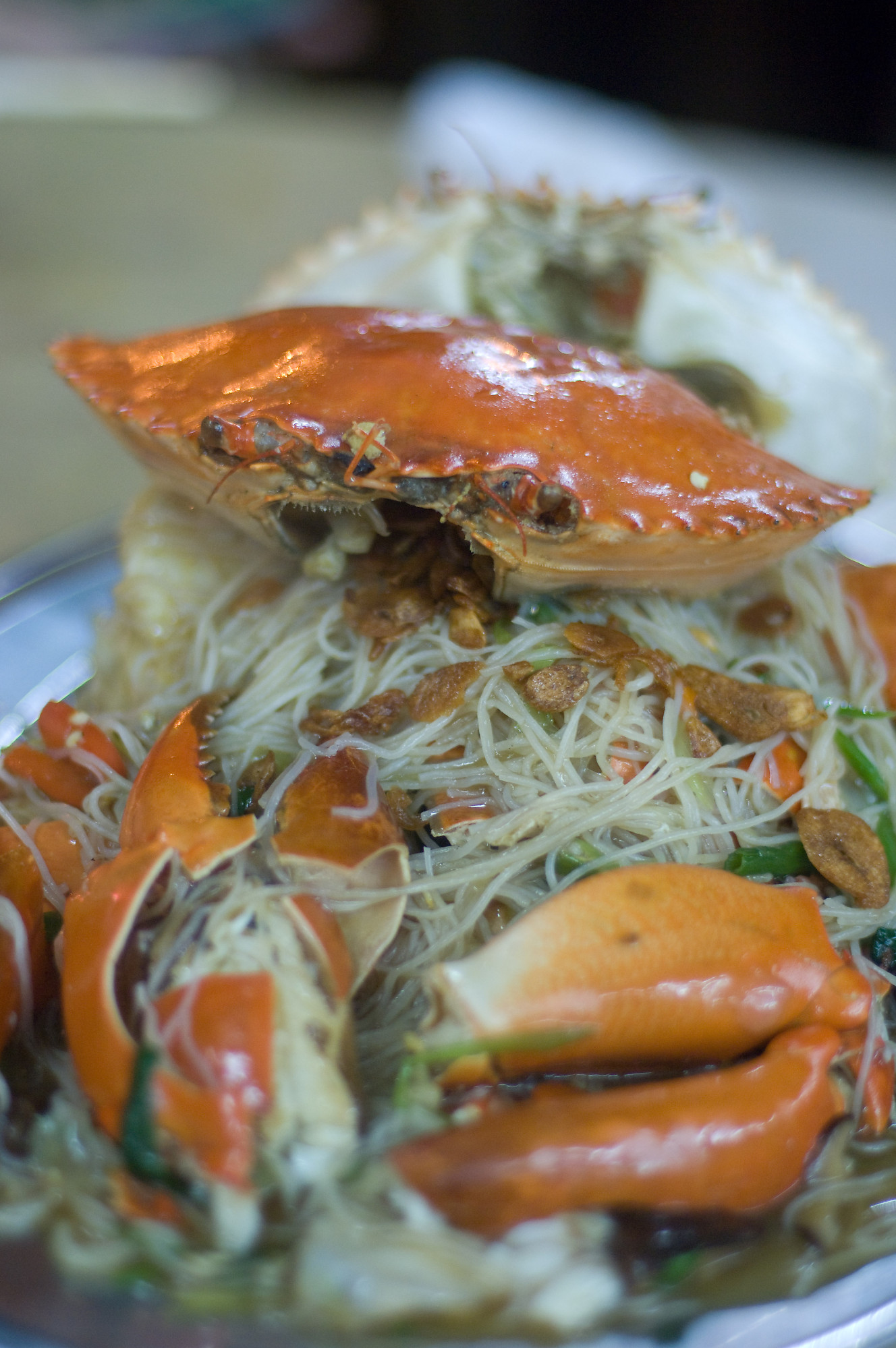 Crab Bee Hoon (Crab Noodles) Recipe — Dishmaps